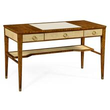 Narrow desk with brass detailing