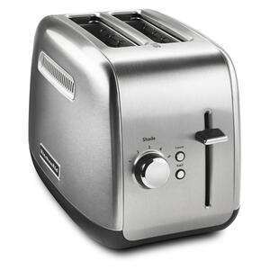 2-Slice Toaster with manual lift lever - Brushed Stainless Steel - BRUSHED STAINLESS STEEL