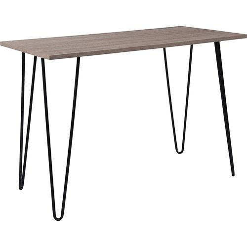 Flash Furniture - Oak Park Collection Driftwood Wood Grain Finish Console Table with Black Metal Legs