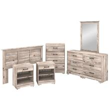 River Brook Bedroom 6 Piece Full/Queen Size Bedroom Set - Barnwood