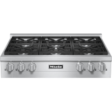 RangeTop with 6 burners for professional applications