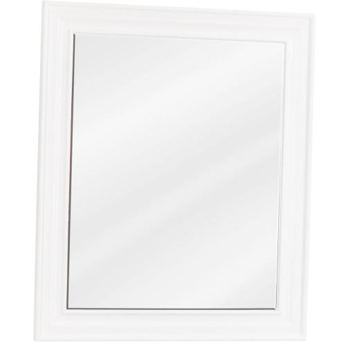 "20"" x 24"" Beveled glass mirror with White finish."