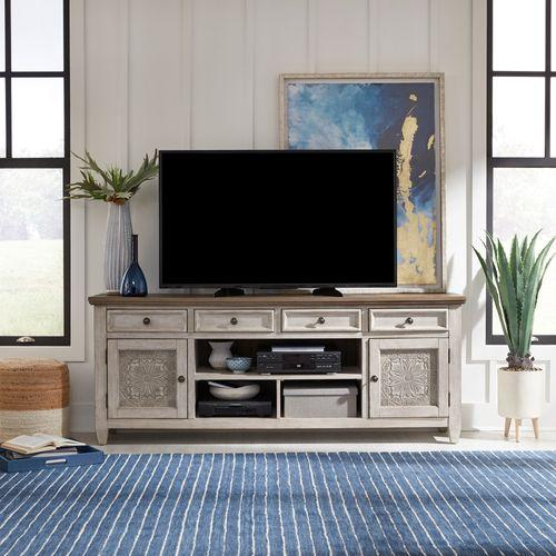 Liberty Furniture Industries - 76 Inch Tile TV Console