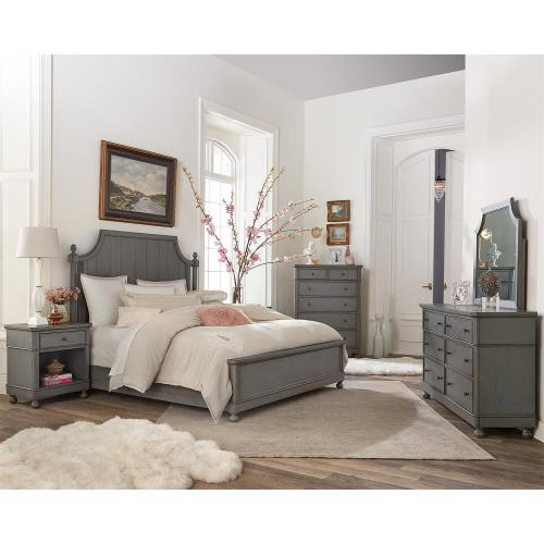 Bella Grigio - Queen/king Bed Rails - Chipped Gray Finish