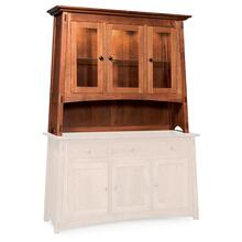 "McCoy Open Hutch Top, 72"", Antique Glass"