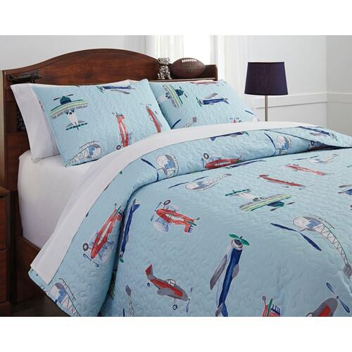 Mcallen 3-piece Full Quilt Set