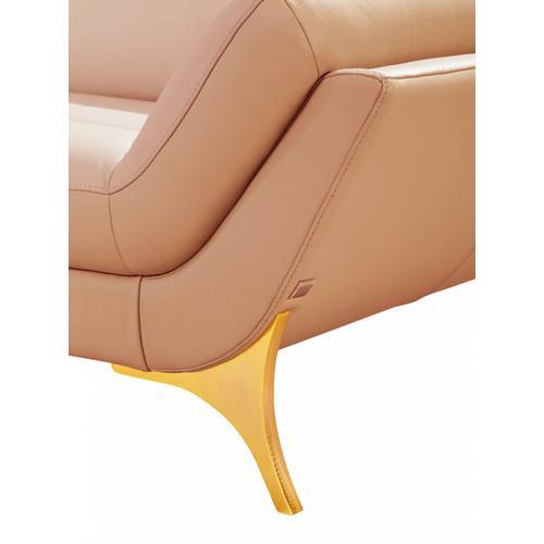 Divani Casa 1541 Modern Pink Leather Sectional Sofa
