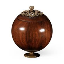Large George III Round Walnut Box