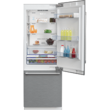 """See Details - 30"""" Stainless Steel Freezer Bottom Built-In Refrigerator with Auto Ice Maker, Water Dispenser"""