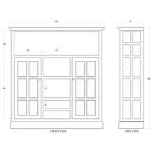View Product - Cape Cod Kitchen Cupboard w/ Drawers