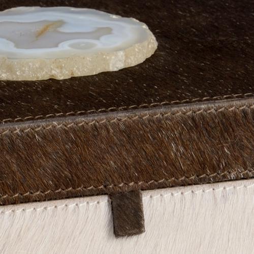 Hair On Hide Agate Box (lg)
