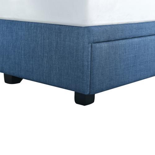 Accentrics Home - Queen Tufted Storage Bed in Denim