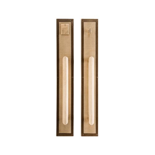 "Rocky Mountain Hardware - Flute Push/Pull Set - 3 1/2"" x 24"" Silicon Bronze Rust"