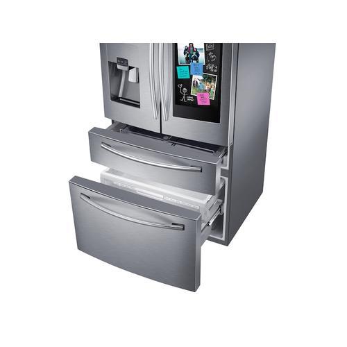 Samsung - 28 cu. ft. Family Hub™ 4-Door French Door Refrigerator in Stainless Steel