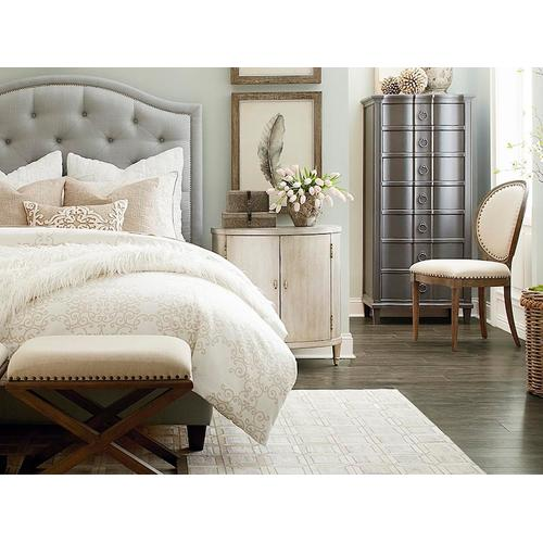Custom Uph Beds Florence Full Clipped Corner Bed, Storage 1 Drawer, Insert Type Tufted