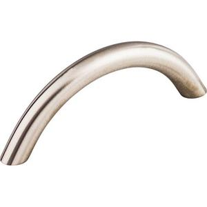 Top Knobs - Solid Bowed Bar Pull 3 Inch (c-c) Brushed Stainless Steel