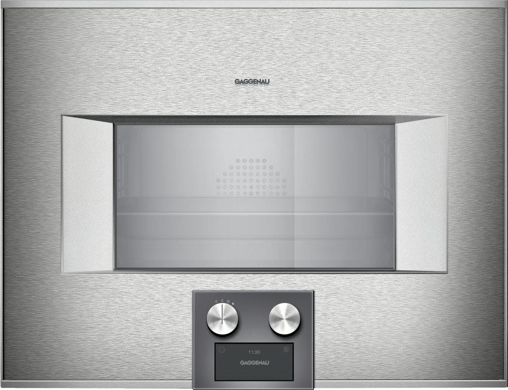 400 Series Combi-steam Oven 24'' Door Hinge: Right, Door Hinge: Right, Stainless Steel Behind Glass Photo #2