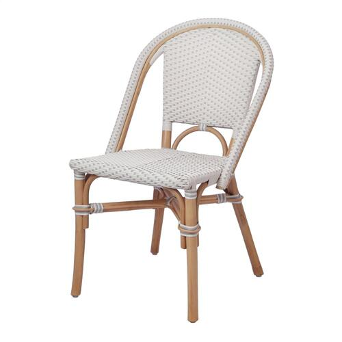 Avignon Paris Bistro Chair, White/ Gray