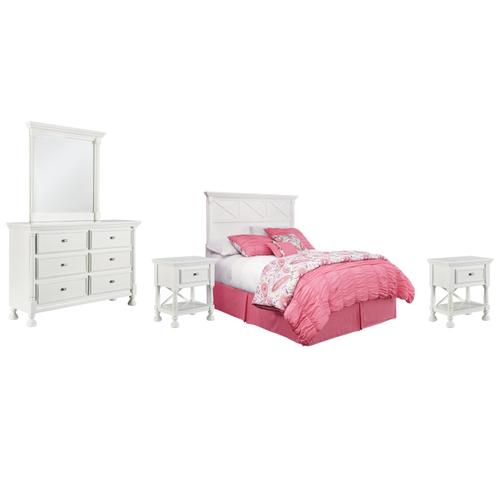 Ashley - Queen Panel Headboard With Mirrored Dresser and 2 Nightstands