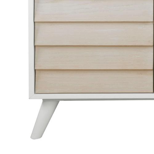 Duotone Louvered Two Door Chest