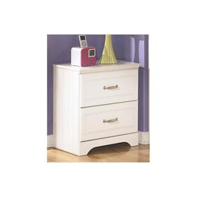 Lulu Two Drawer Night Stand White