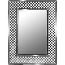 """See Details - Checkered Frame Wall Mirror 34"""" x 45"""""""