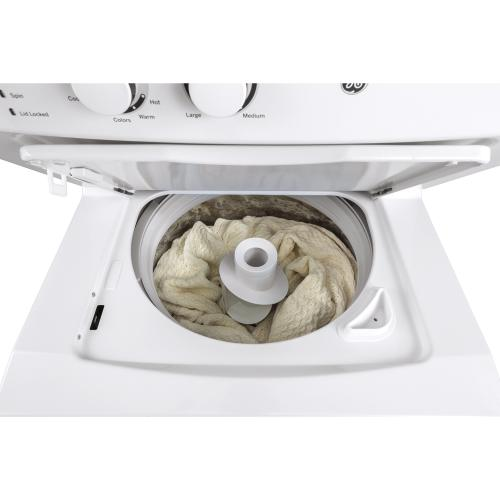 """GE Appliances Canada - GE 27"""" Unitized Spacemaker Washer and Gas Dryer White - GUD27GSSMWW"""