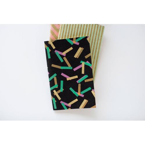 5'' x 8'' Black Notebooks (Confetti Option)