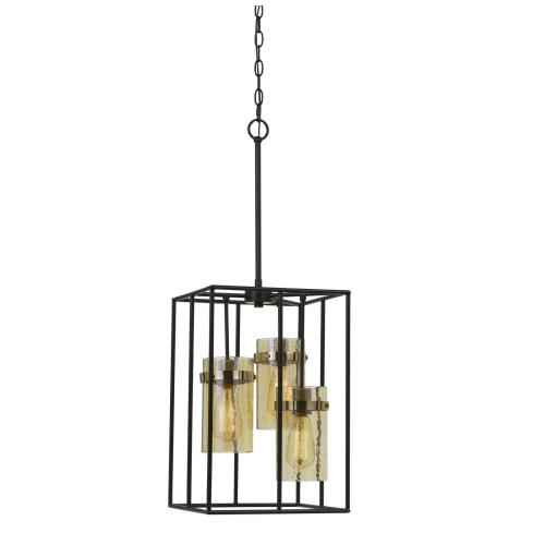 60W X 3 Cremona Glass Pendant Fixture (Edison Bulbs Not included)
