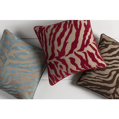 """Velvet Zebra JS-030 22"""" x 22"""" Pillow Shell with Polyester Insert"""