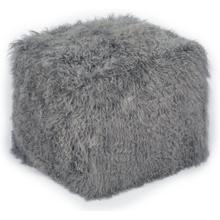 Tibetan Sheep Grey Pouf