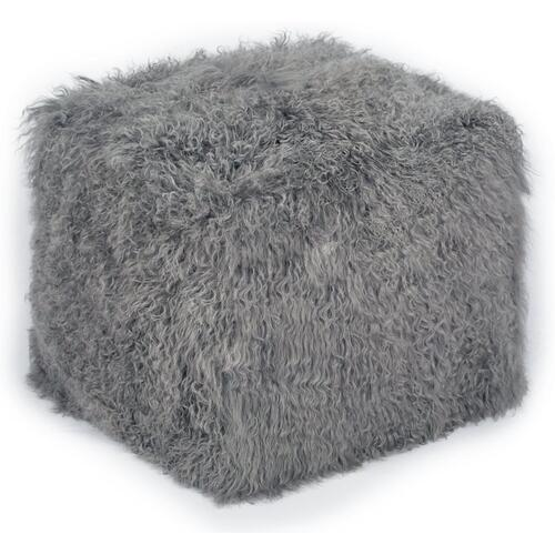 Tov Furniture - Tibetan Sheep Grey Pouf