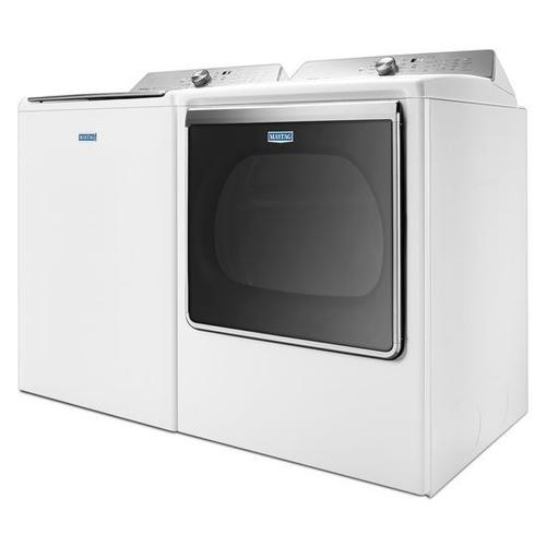 Maytag - Maytag® 8.8 cu. ft. Extra-Large Capacity Gas Dryer with Steam Refresh Cycle - White