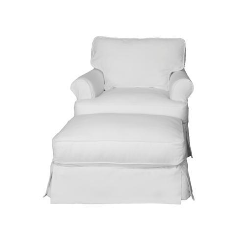 Horizon Slipcovered Chair and Ottoman - 423080