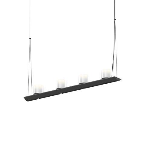"Sonneman - A Way of Light - Votives LED Bar Pendant [Size=3', Color/Finish=Satin Black, Shade Size=3"" height x 3"" diameter]"