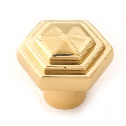 Geometric Knob A1535 - Polished Brass