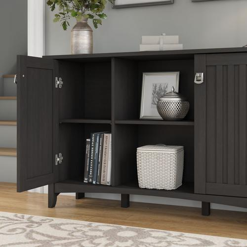 Salinas Entryway Storage Set with Hall Tree, Shoe Bench and Accent Cabinet - Vintage Black