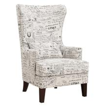 Kori Accent Chair in French Script