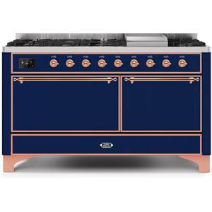 60 Inch Blue Dual Fuel Natural Gas Freestanding Range
