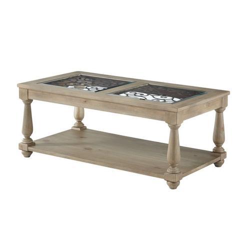 Savannah Glass Coffee Table, Brown
