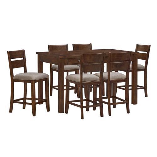 Gallery - Kyle Dark 5-Pack Dining Set, Brown