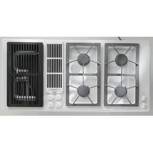 Jgd8345adw In White By Jennair In Middletown Nj 45 Designer Line Gas Downdraft Cooktop