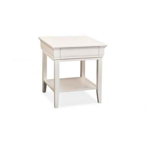 - Monticello End Table with Shelf and 1 Drawer