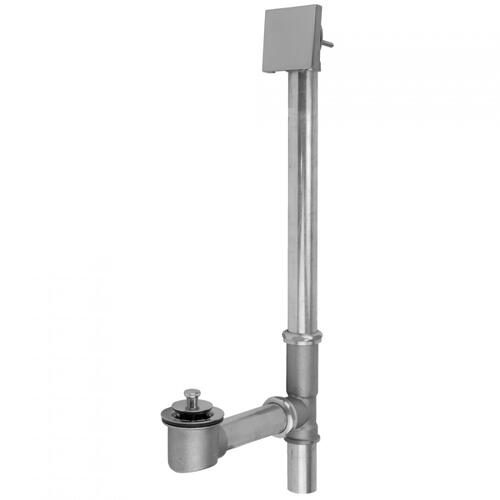 Pewter - Brass Tub Drain Bottom Outlet Lift & Turn with Faceplate (Square) Tub Waste
