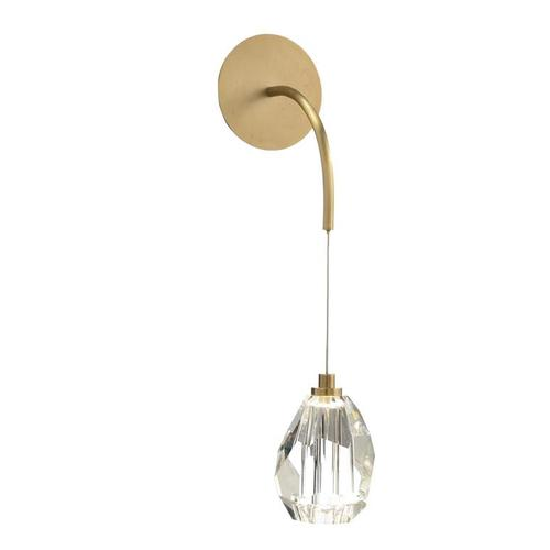 Faceted Cut Crystal Single-Droplight Sconce