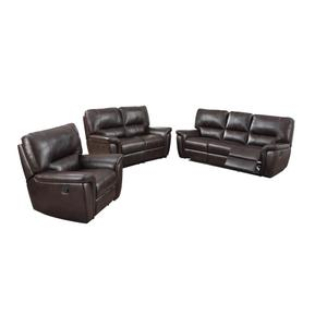Galaxy Burgundy Leather Recliner