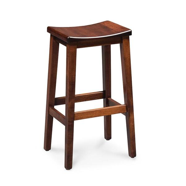 """See Details - Sally Stationary Barstool, 30"""" Seat Height / Fabric Cushion Seat"""