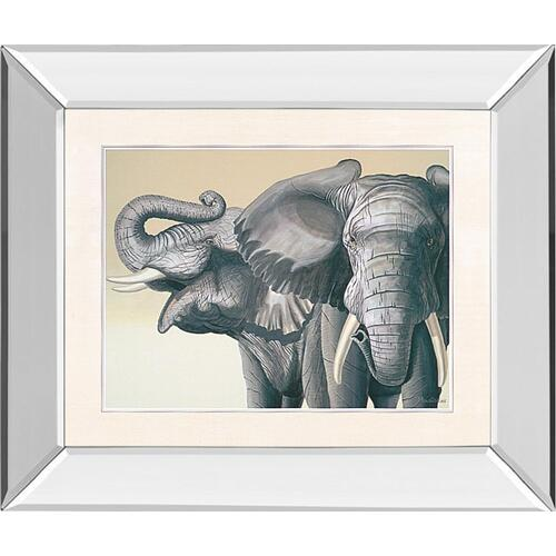 """Elephant"" By Peter Moustakas Mirror Framed Print Wall Art"