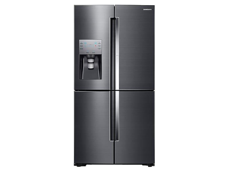 Samsung22 Cu. Ft. Food Showcase Counter Depth 4-Door Flex™ Refrigerator With Flexzone™ In Black Stainless Steel