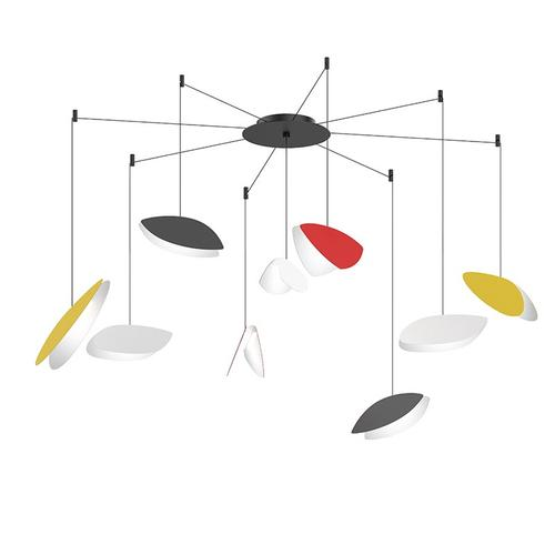 Sonneman - A Way of Light - Papillons LED Pendant [Size=9-Light Swag, Color/Finish=Assorted Shade Colors]